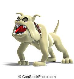 toon, dangereux, chien, rigolote
