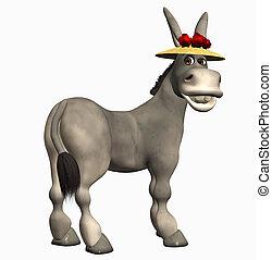 toon donkey - 3d