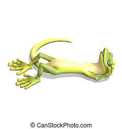 toon, engraçado, gecko