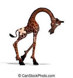 toon, giraffa