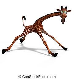 toon, giraffe
