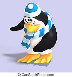 toon, macho, pingüino