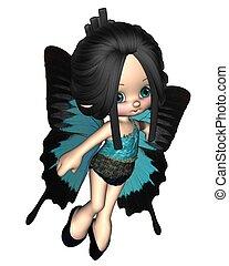toon, mignon, fée, papillon
