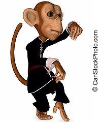 3D Render of an Toon Monkey