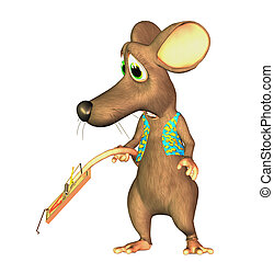 toon mouse with mousetrap