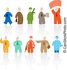 Toon people - Cartoon people: professions. Vector ...