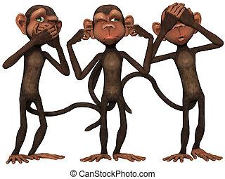 toon, scimmia