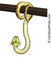 toon snake - 3d render