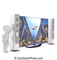 Toon with home entertainment system