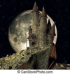 toon, zamek, średniowieczny