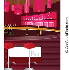 toonbank, bar, aanzicht
