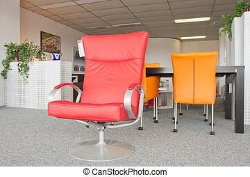 toonzaal, modern meubilair