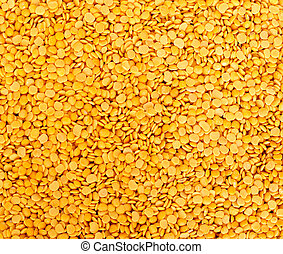 Toor dal, famous Indian legume also called yellow Pigeon...