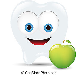 Toot Icon With Apple, Isolated On White Background, Vector Illustration