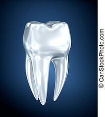 Tooth 3d illustration