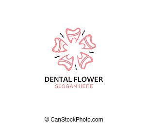Tooth and Flower Pattern for Dental Graphic logo symbol design inspiration