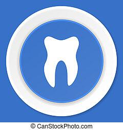 tooth blue flat design modern web icon
