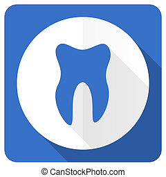 tooth blue flat icon