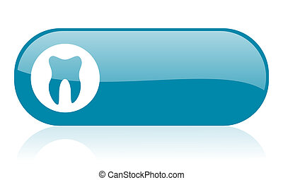 tooth blue web glossy icon