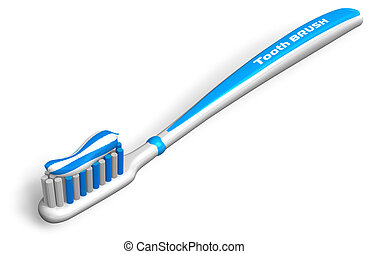 Tooth brush with toothpaste