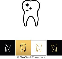 Tooth care and dental cleaning vector icon