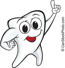 Tooth cartoon