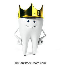Tooth character - 3d rendered illustration of a tooth...