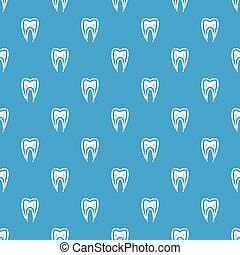 Tooth cross section pattern seamless blue