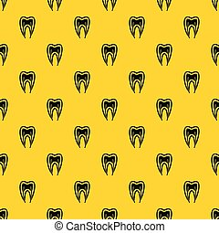 Tooth cross section pattern vector