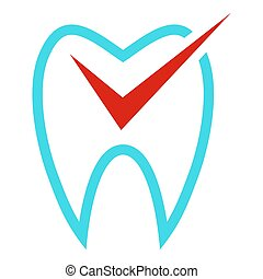 Tooth curve icon, flat style.