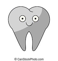 Tooth cute cartoon