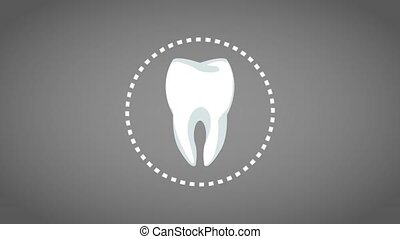 Tooth Dental Symbol Hd Animation Tooth Broken Over Blue Background High Definition Coloful Animation Scenes