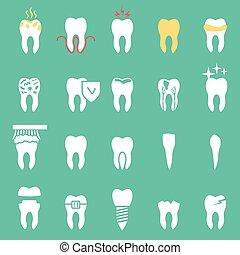 vector dentist set , teeth icons