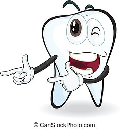 tooth - illustration of a tooth with naughty expressions