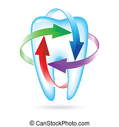 Tooth - Herbal and fluoride protection icon of a tooth
