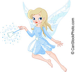 A tooth fairy with a magic wand