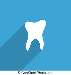 tooth flat icon.