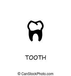 Tooth flat vector icon