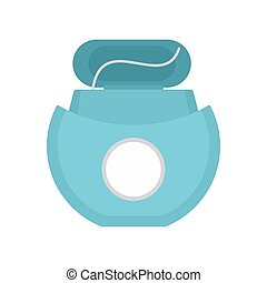Tooth floss icon, flat style