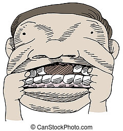 Tooth Gap - An image of a man showing a gap in his mouth.