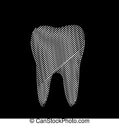 Tooth graphic for dentist