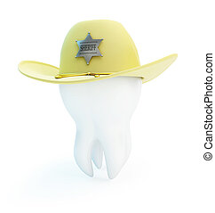 tooth, hat sheriff