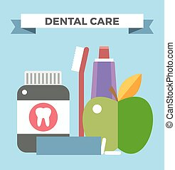 Tooth health vector illustration. Dentist tooth care vector....