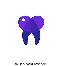 tooth heart vector illustration