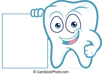 Tooth holding blank sign