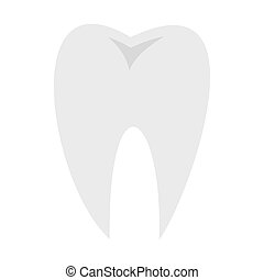 Tooth icon, flat style