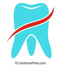 Tooth icon, flat style.