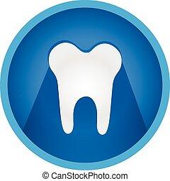 Tooth icon flat vector button logo