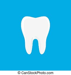 Tooth icon in flat style