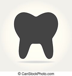 Tooth Icon in trendy flat style isolated on grey background. Dentistry symbol for your web site design, logo, app, UI. Vector illustration, EPS10.